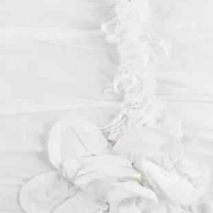 Cotton Aiyana Queen Quilt, White, rollover