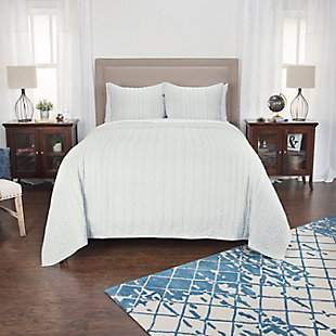 Cotton Ventrice Queen Quilt, White, rollover