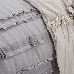 Cotton Hattie Queen Quilt, Gray, large