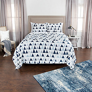 Cotton Flint 2 Piece Twin Quilt Set, Ivory, rollover