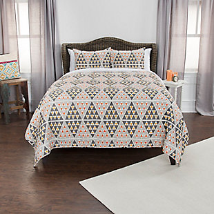 Cotton Tommy 2 Piece Twin Quilt Set, Gray, rollover