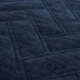 Cotton Riviera Queen Quilt, Indigo, rollover