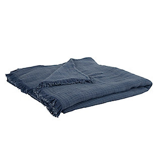 Cotton Windsor Queen Quilt, Indigo, large
