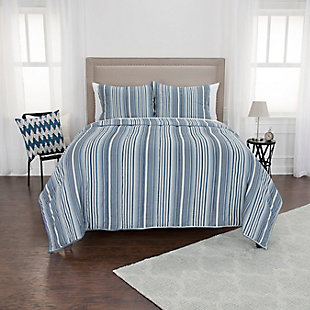 Cotton The Brady 2 Piece Twin Quilt Set, Baby Blue, rollover