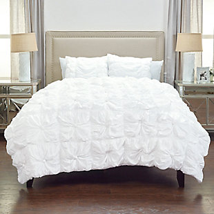 Cotton Voile Day Dream 2 Piece Twin Quilt Set, White, rollover