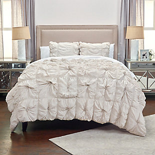 Cotton Voile Soft Dreams 2 Piece Twin Comforter Set, Gray, rollover