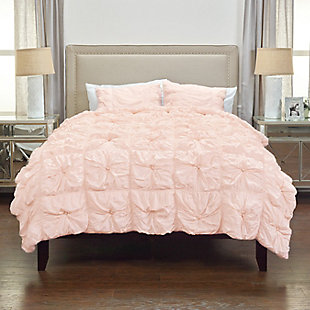Cotton Voile Plush Dreams 2 Piece Twin Comforter Set, Pink, rollover