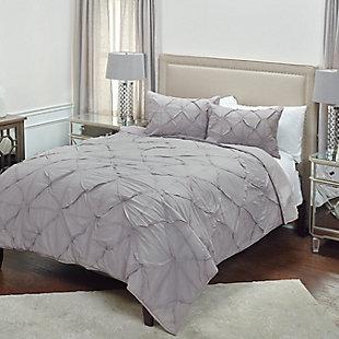 Cotton Carrington Queen Quilt, Gray, large