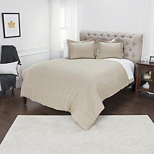 Linen Covington Queen Duvet, Natural, large