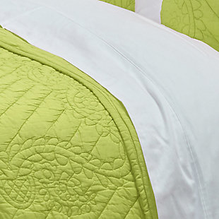 Cotton Voile Moroccan Fling Twin Quilt, Lime Green, large