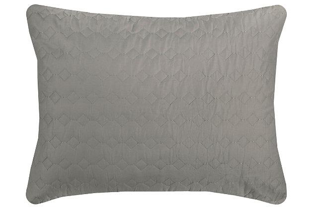Cotton Urban Mesh Queen Quilt, Gray, large