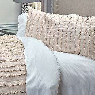 Cotton Annalise Queen Quilt, Tan, large
