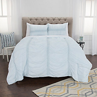 Cotton Kassedy Queen Quilt, Blue, rollover
