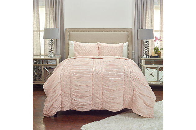 Cotton Carly Twin Quilt, Pink, large