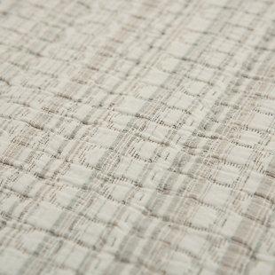Cotton Patrick Matelassé Queen Quilt, Ivory, rollover