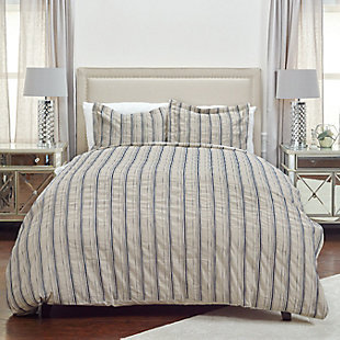 Linen Vincent III Queen Duvet, Natural, rollover