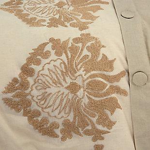 Cotton Alysa 3 Piece Queen Duvet Set, White, rollover
