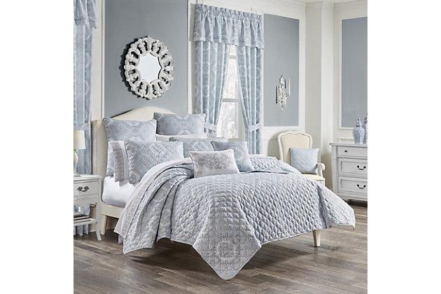 Royal Court Claremont 2-Piece Twin/Twin XL Quilt Set, Blue, large