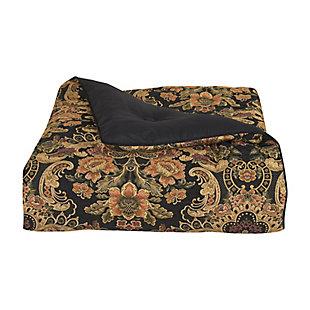 J. Queen New York Toscano 4-Piece Queen Comforter Set, Black, large