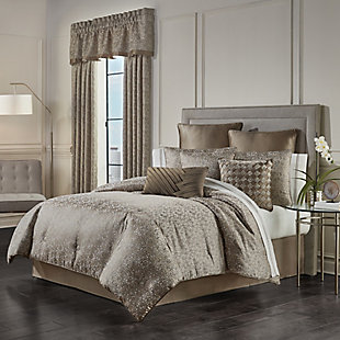 J. Queen New York Cracked Ice 4-Piece Queen Comforter Set, Taupe, large
