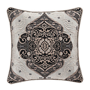 "J. Queen New York Vera 20"" Square Decorative Throw Pillow, , rollover"
