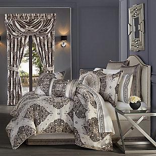 J. Queen New York Vera 4-Piece Queen Comforter Set, Silver, large