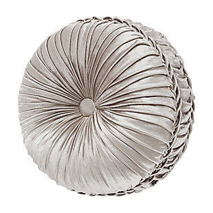 J. Queen New York Vera Tufted Round Decorative Throw Pillow, , rollover