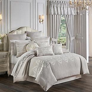 Five Queens Court Maryanne 4-Piece Queen Comforter Set, Beige, rollover