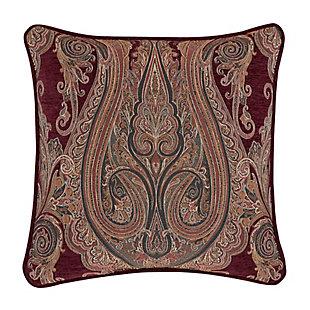 "J. Queen New York Garnet 20"" Square Decorative Throw Pillow, , large"