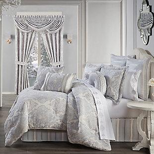 J. Queen New York Iceland 4-Piece Queen Comforter Set, Powder Blue, rollover