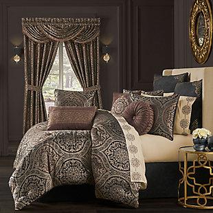 J. Queen New York Mahogany 4-Piece Queen Comforter Set, Chocolate, rollover