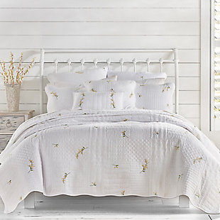 Piper & Wright Sandra Full/Queen Quilt, White, rollover