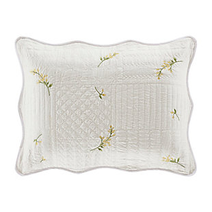Piper & Wright Sandra Quilted Standard Sham, White, rollover