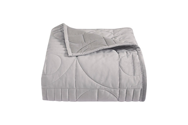 Oscar   Oliver Bryant Full/Queen Coverlet, Gray, large