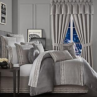 Five Queens Court Houston 4-Piece Queen Comforter Set, Charcoal, rollover