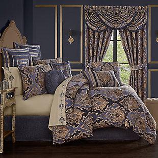 Five Queens Court Woodstock Queen Comforter Set, Indigo, rollover