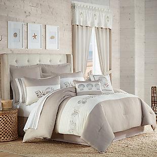Royal Court Water's Edge 4-Piece Full Comforter Set, Natural, large