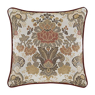 "J. Queen New York Juliette 18"" Square Embellished Decorative Throw Pillow, , rollover"