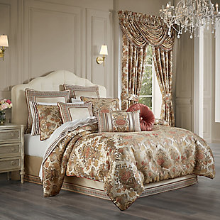 J. Queen New York Juliette 4-Piece Queen Comforter Set, Terracotta, rollover