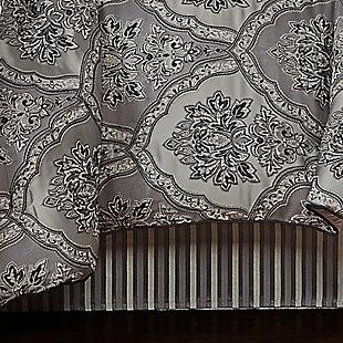 Five Queens Court Silverstone 4-Piece Queen Comforter Set, Silver, large