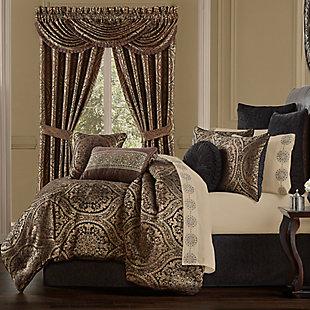 J. Queen New York Jordan 4-Piece Queen Comforter Set, Chocolate, rollover