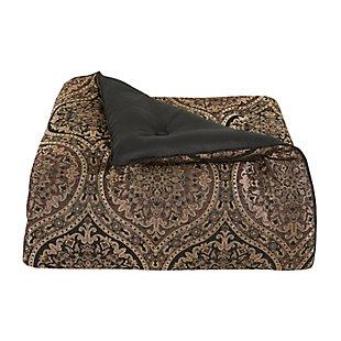 J. Queen New York Jordan 4-Piece Queen Comforter Set, Chocolate, large