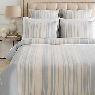 Surya Brighley 3-Piece Full/Queen Duvet Set, Blue/Beige, large