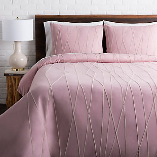 Surya Moorefield 3-Piece Full/Queen Duvet Set, Purple, rollover