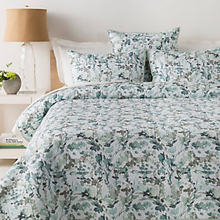Surya Napa 3-Piece Full/Queen Duvet Set, Green/Blue, rollover