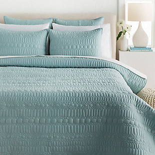 Surya Pottingham 3-Piece Full/Queen Duvet Set, Turquoise, large