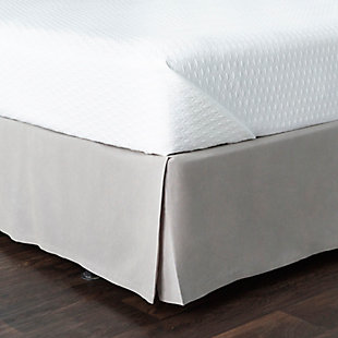 Surya Potter Bed Skirt, Light Gray, rollover