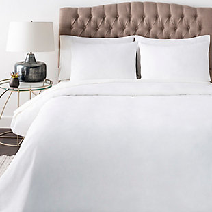 Surya Paytonfield 3-Piece Full/Queen Duvet Set, White, rollover