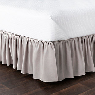 Surya Porter Ruffle Bed Skirt, Beige/Brown, rollover