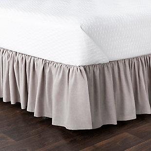 Surya Porter Ruffle Bed Skirt, Beige/Brown, large